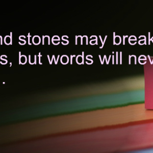 Thirsty Thursday- Sticks and Stones Psalm 109